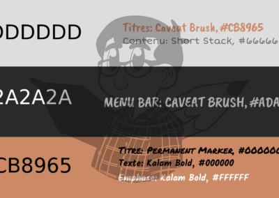 Fonts & Colour Coding
