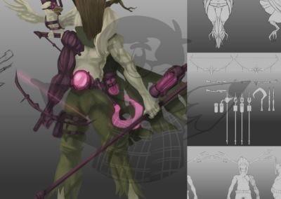 Cyberpunk Druid
